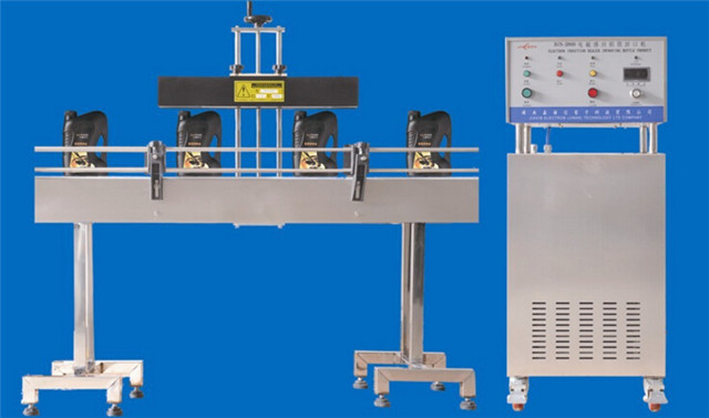 fully automatic aluminum foil caps pharmaceutical induction sealing machine electromagnetic continuous sealer equipment water air double cooling way
