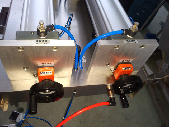 close view of double heads fully pneumatic cream thinner hig