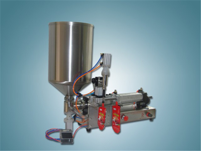 custom cheap spout bag stand up bag juice liquid filling machine semi automatic with single head one filling nozzle cream filler