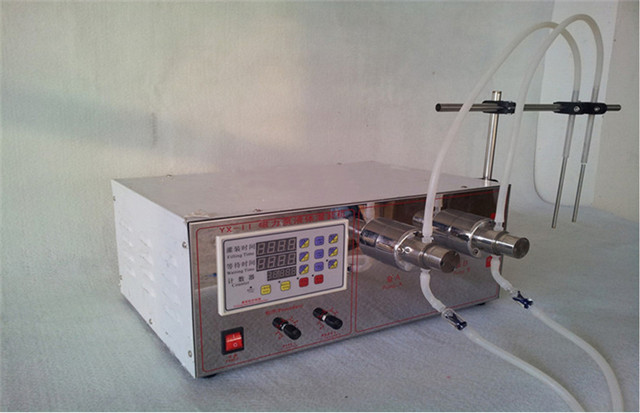 Double heads liquid filling machine magnetic pump.jpg