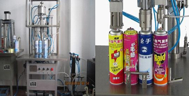 filling and sealing nozzles of YX-ASF500 deodorant aerosol s