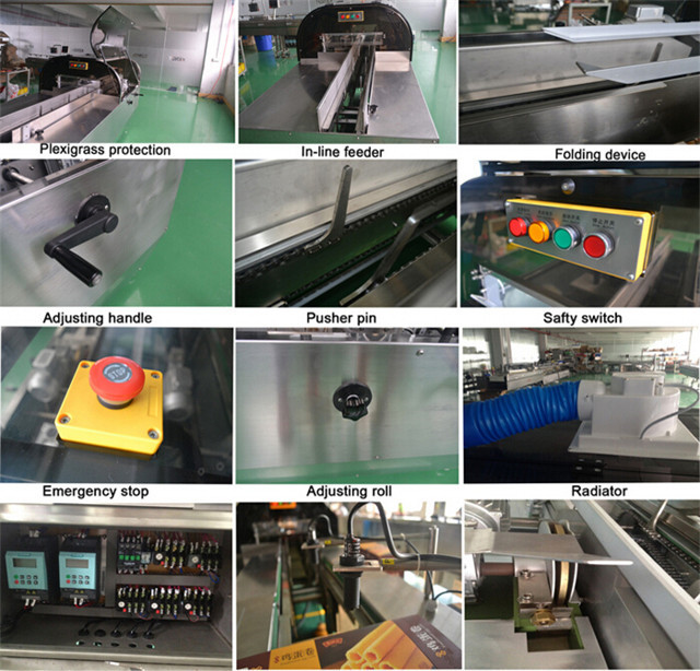 up-close details of YX-HS200 hotmelt box case sealing machin