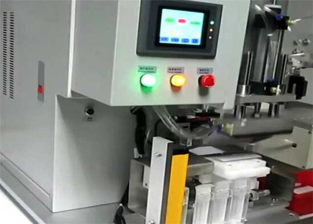 control panel of semi automatic flat surface objects labelle