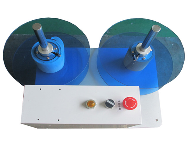 top view of label rewinder equipment  label rewinding counti