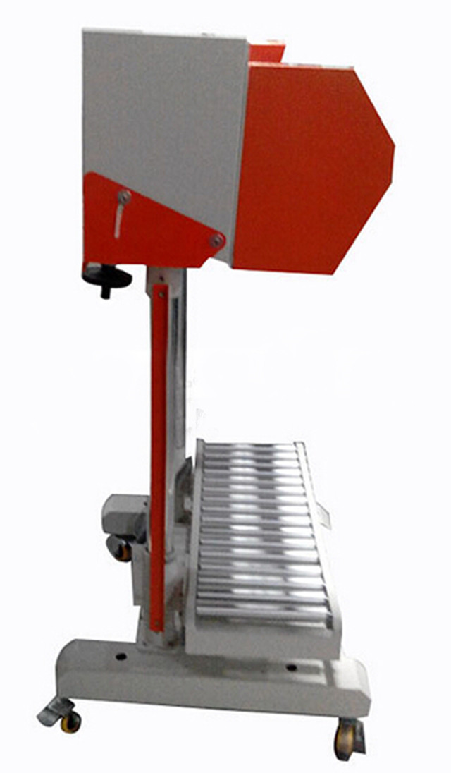 side view of  Pneumatic sealing machine for big plastic bags