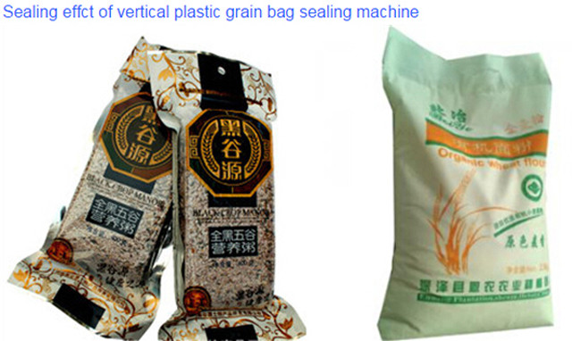 heat sealed bags bby Pneumatic sealing machine for big plast