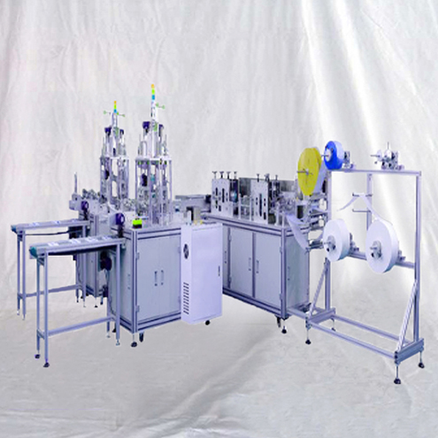 Automatic disposable surgical face masks making machine 1+2 type mask manufacturing equipment