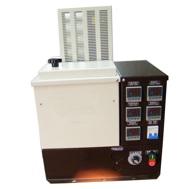 front view of X-HS05 hot melt glue boxes sealing machine man