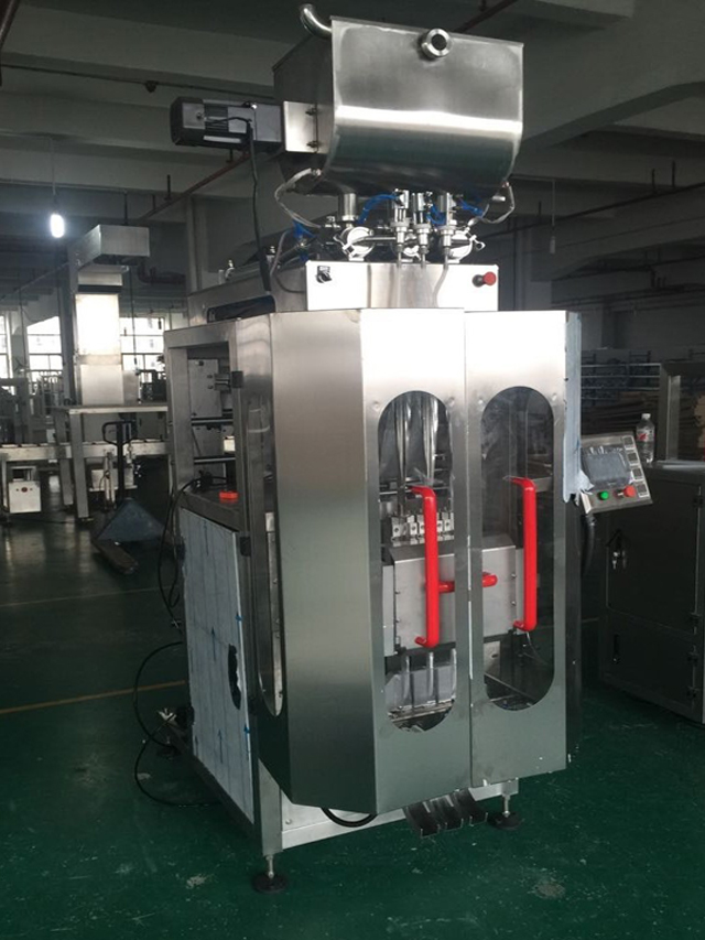 Senegalean customer ordered 3 lanes honey packing machine high speed VFFS packaging systerm