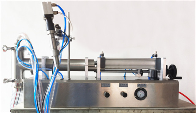 full view of YX-LC03 handheld pneumatic filling machine semi