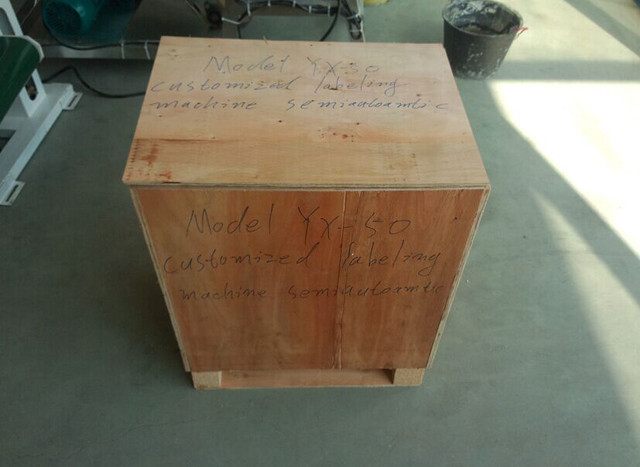 wooden case packaging for the YX-50 semi automated round bot