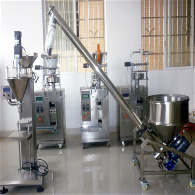 New Zealanian friend buys baby talcum powder filling machine semi automatic auger filler with elevator feeding