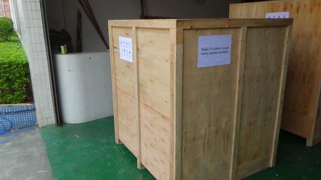 packing of vertical automatic labelling machines with round