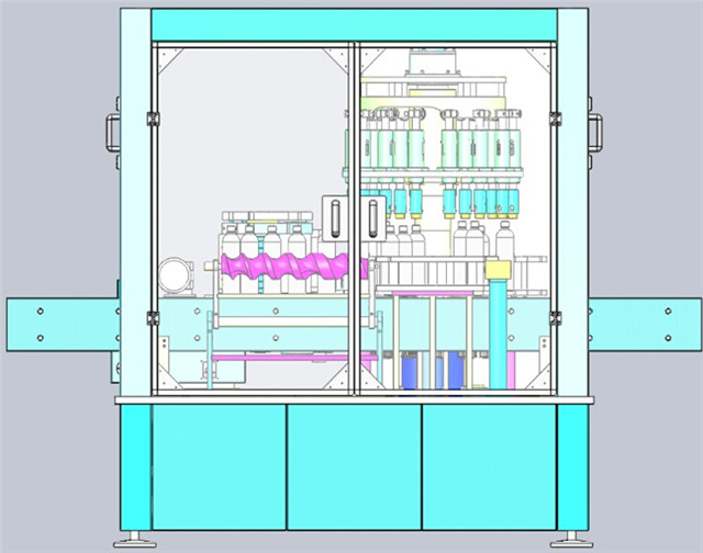 schematic diagram of Rotary labeling machine fully automatic