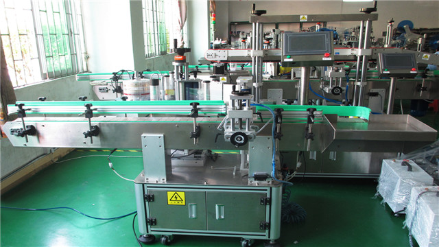 Round metal cans labelling machine automatic vertical easy open cans labeller equipment machinery