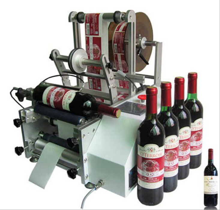 red wine bottles labelling machine manual labeller equipments for glass bottle plastic container round shaped bottles custom labeling machinery semi auto cost effective