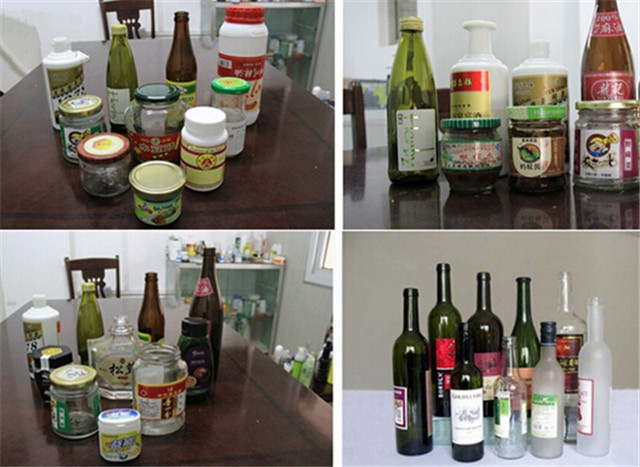 labelled bottle samples by round bottles automatic labeling