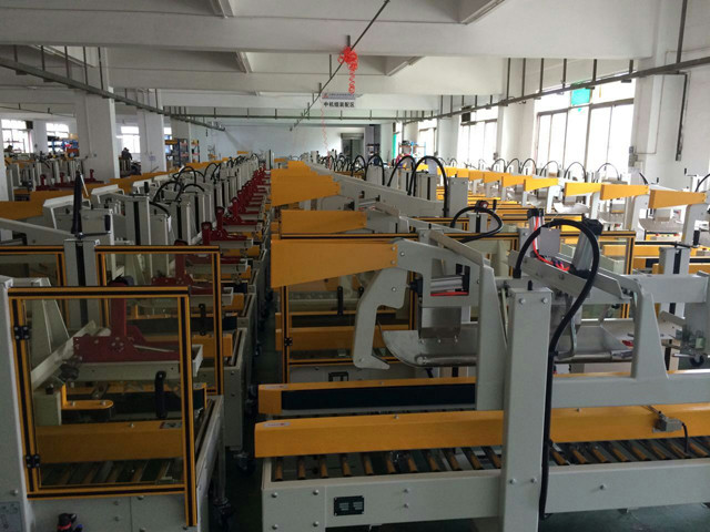 workshop view for carton sealing machines various model for