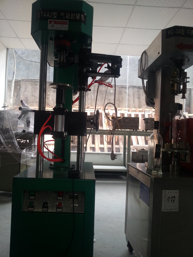 Pneumatic and electric metal cans easy open can sealing mach