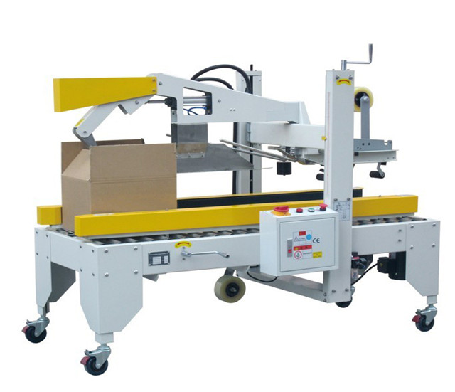 Semi automatic Carton Flaps Folding Machine carton boxes sealer equipment with adhesive tapes folding cover sealing machinery