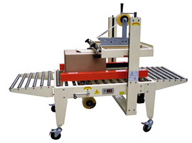 semi automatic carton sealing machine Adhesive tape carton sealer machinery equipment top bottom side seal