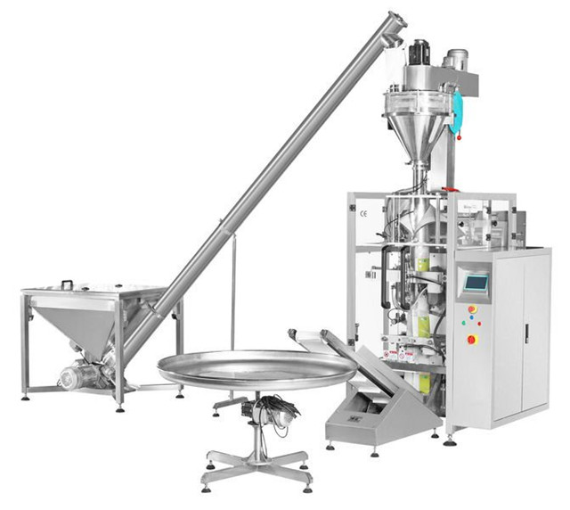 powder filling packing machine bags form fill seal equipment auger filler packaging machinery solution VFFS
