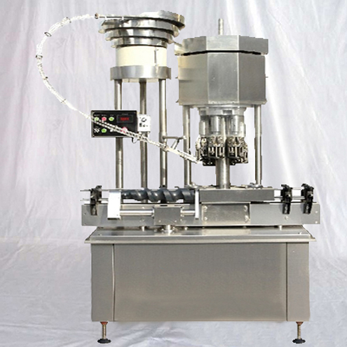 Automatic Multiple Head Rotary Aluminum Caps ROPP Capping Machine