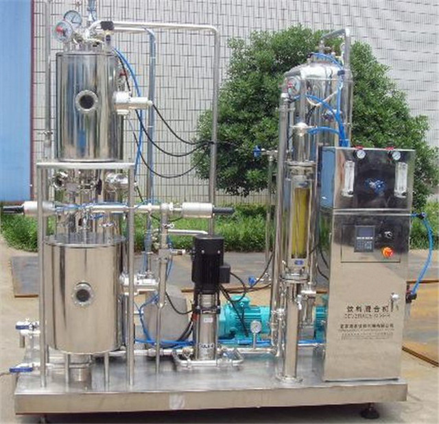 Carbonated drinks CO2 liquid blending tank mixing equipment beverage juice soft drink flavored water mixer machinery