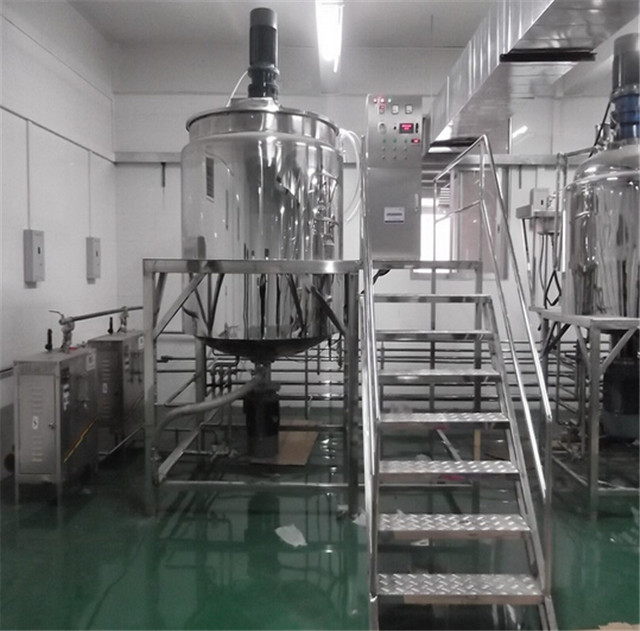 stainless steel tank mixer agitator industrial mixing blending shampoo making line filling capping labeling machinery stainless shampoo mixer maker equipments systems