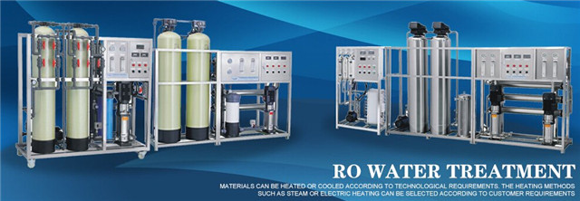 full view of reverse osmosis treatment industrial water puri