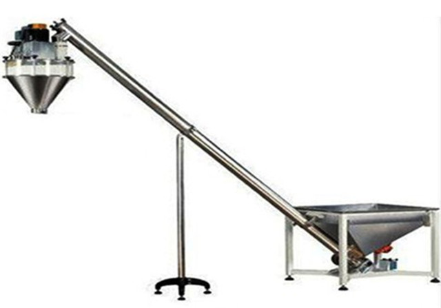 Screw feeding system with hopper for auger filling machine m
