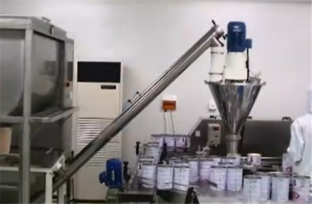 more detailed look at milk powder cans auger filling machine