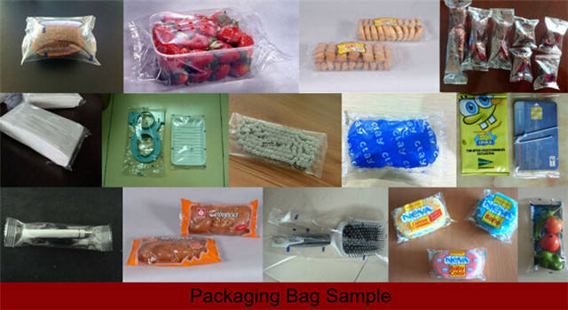 wrapped bag samples by Computer control fast pillow packing