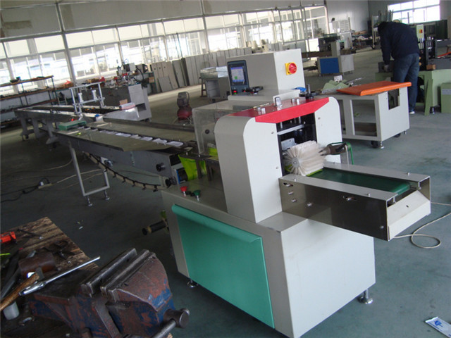 workshop view of Computer control fast pillow packing machin