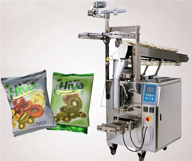 Hardware packaging machinery electric accessories bucket chain type packing machines semi automatic manual feeding materials for snacks chips candies bagging